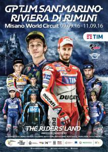 Il poster ufficiale 2016 del Gran Premio Tim di San Marino e della Riviera di Rimini