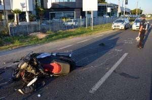 Rimini 18/07/2016 - Incidente stradale grave via Emilia. © Manuel Migliorini / Adriapress.