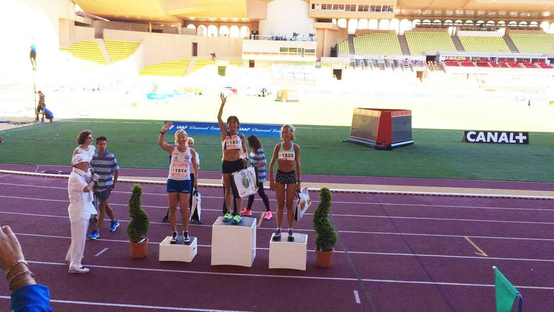 Il podio con Paola Carinato sul terzo gradino
