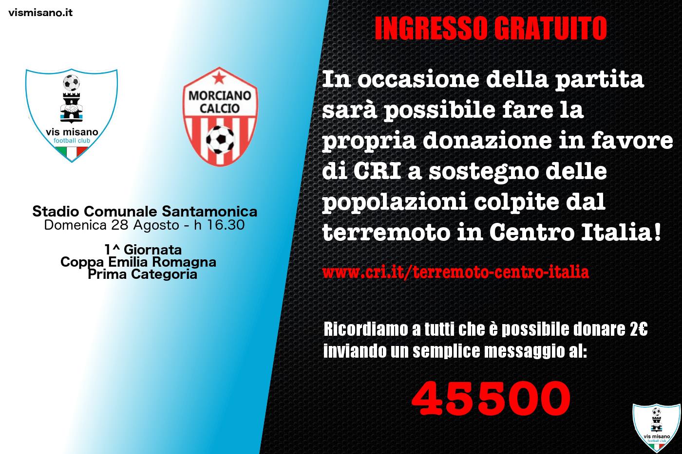 allestire un banchetto per la raccolta di donazioni in favore di CRI a sostegno delle popolazioni colpite dal terremoto in Centro Italia.