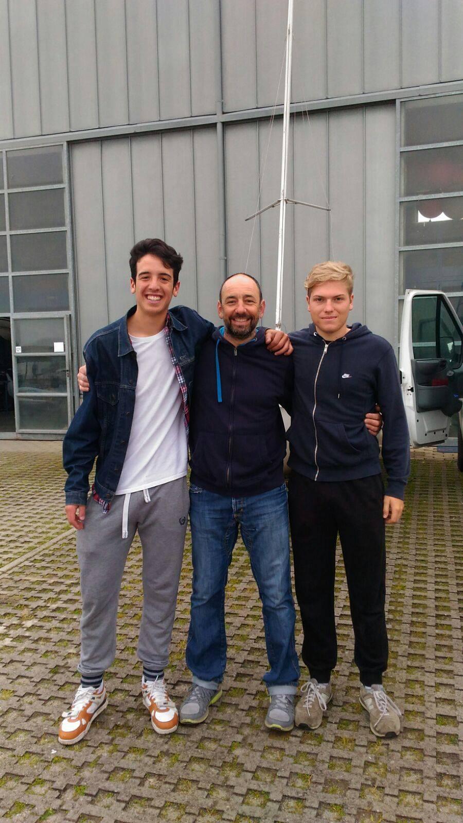 Giacomo Musone e Federico Fregni del Club Nautico Rimini in partenza per i Campionati Mondiali Under 21 a Kiel