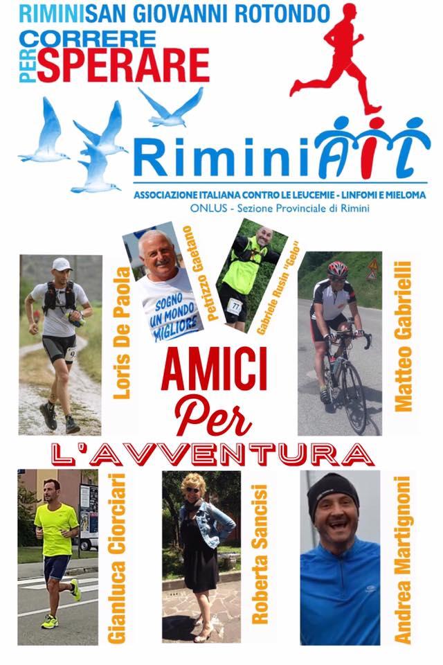 Parte dal Club Nautico la corsa a tappe da Rimini a San Giovanni Rotondo promossa da RiminiAIL