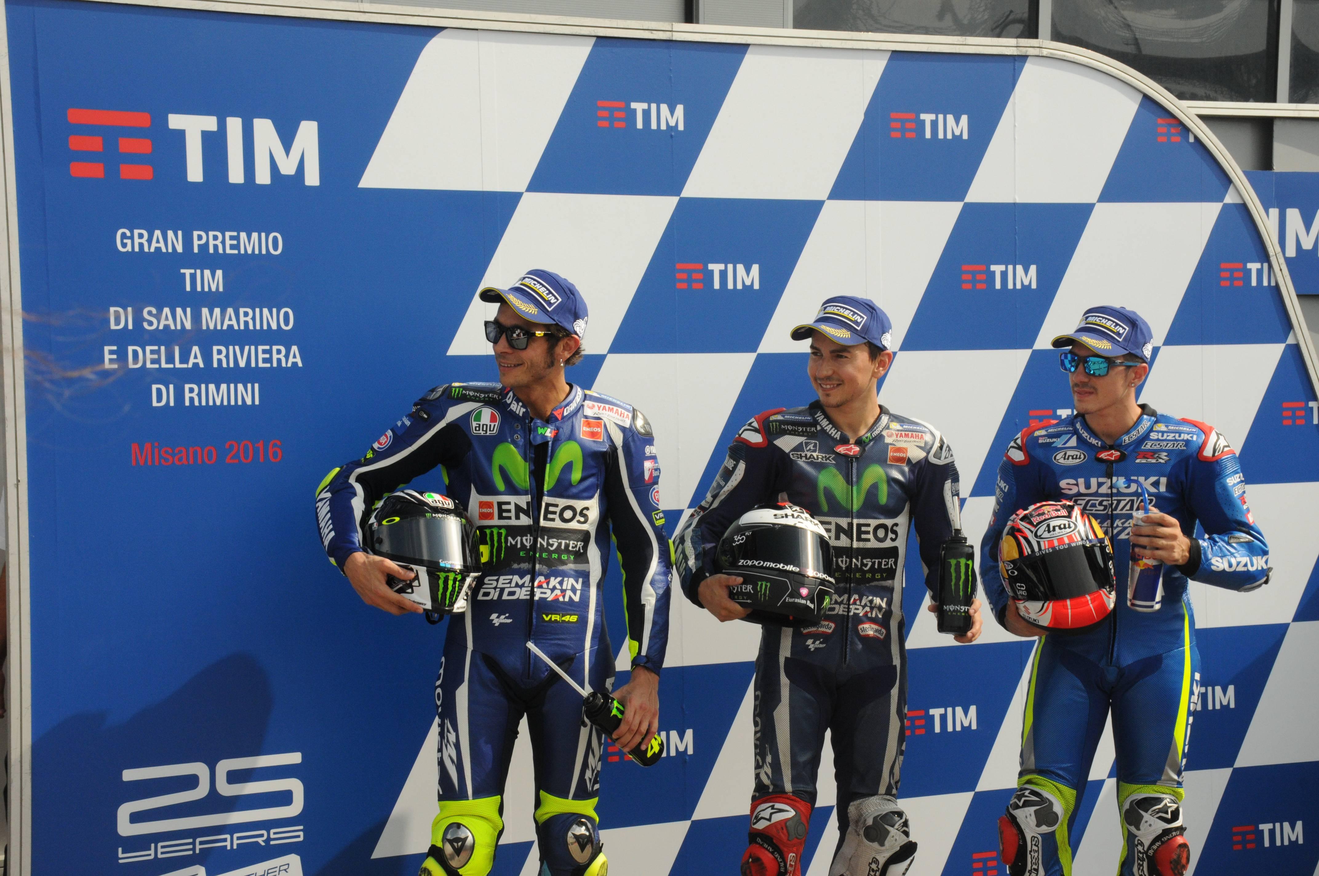 quattro italiani in prima fila