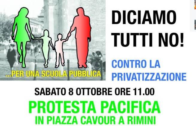 Giù le mani dalle scuole di Rimini