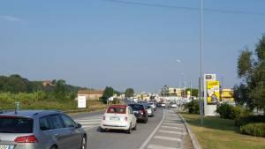 il traffico sulla statale a Misano