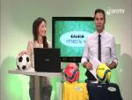 Silvia Pedini e Giuseppe Colonna a Calcio Junior Tv.