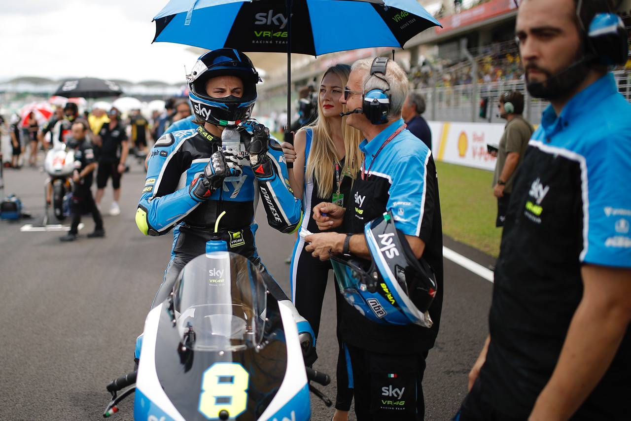 GP della Malesia. Nicolò Bulega costretto al ritiro. Contusione alla spalla e al ginocchio destro