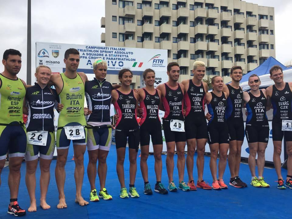 Triathlon sprint. TD Rimini d'argento al Campionato Italiano a Staffetta
