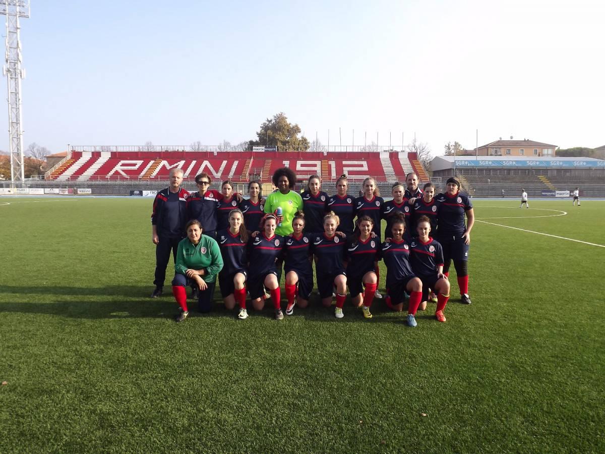 Coppa Italia. Femminile Rimini-United 1-1. Per le biancorosse a segno Fiumana