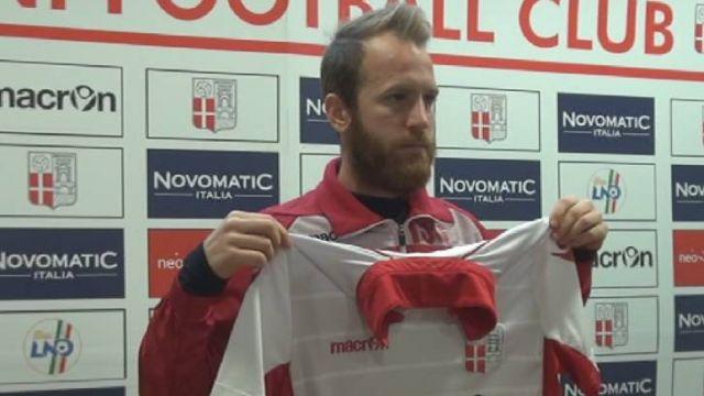 Bacchiocchi con la maglia del Rimini FC