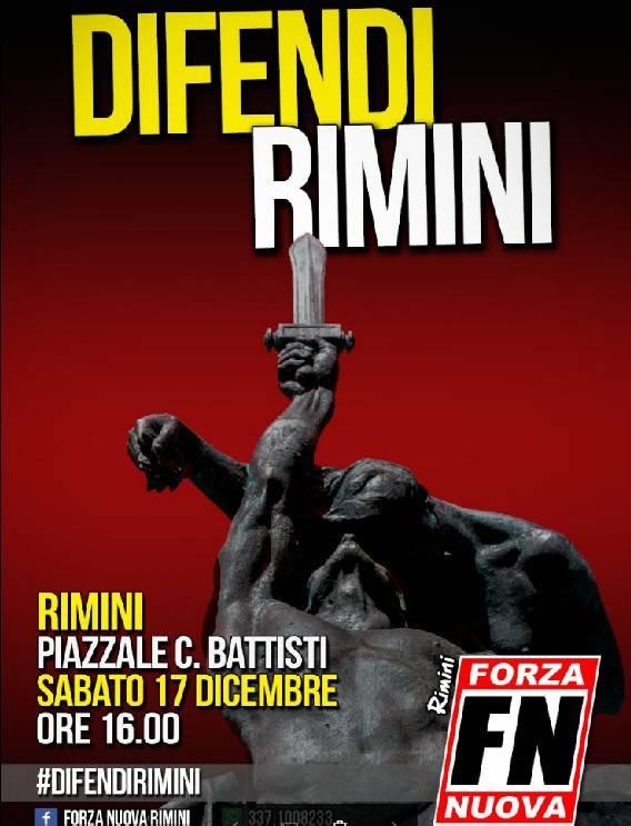 Forza Nuova annuncia una manifestazione per sabato a Rimini