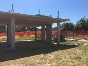 una sala in costruzione