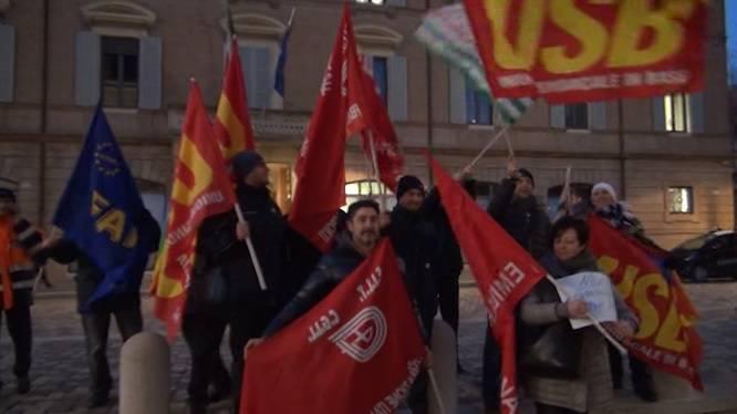 AM e Start Romagna in Prefettura, fuori il presidio del lavoratori