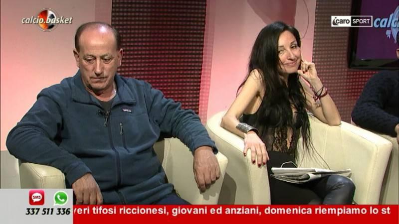 Attilio Fabbri e Silvia Pedini, opinionisti di Calcio.Basket
