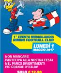 Le mascotte di Mirabilandia e Rimini insieme