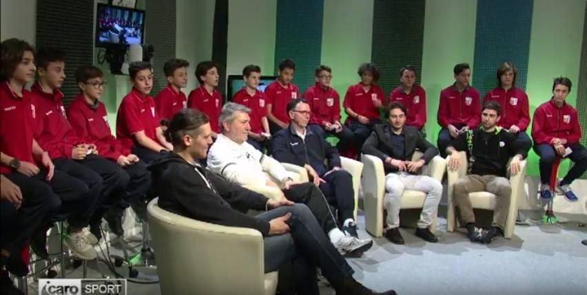 Lo studio di Calcio Junior TV con ospite il Rimini FC