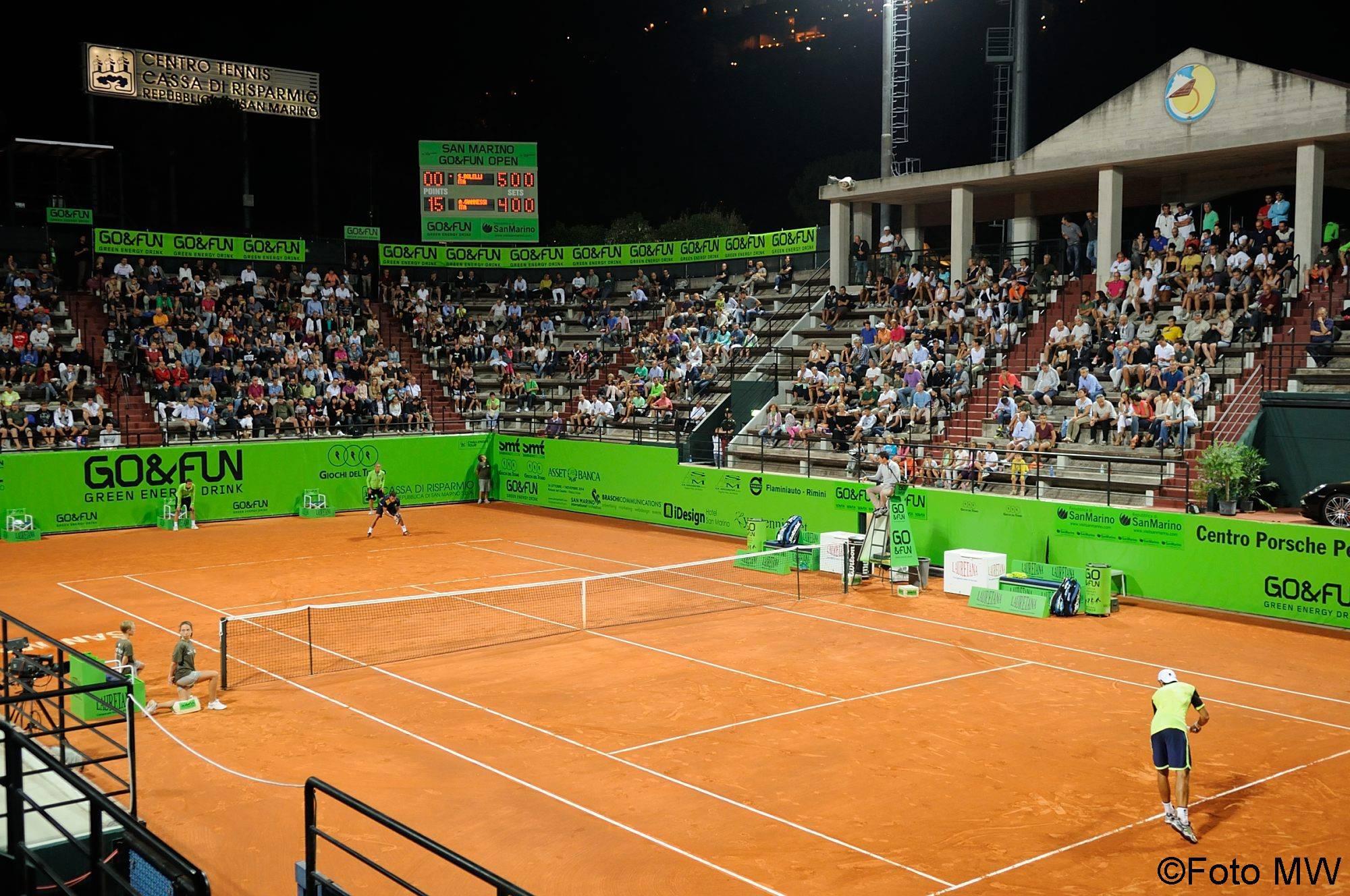 Un momento dell'ATP Challenger San Marino 2014 (foto MW)