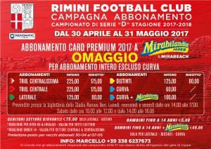 La campagna abbonamenti 2017-2018 del Rimini FC