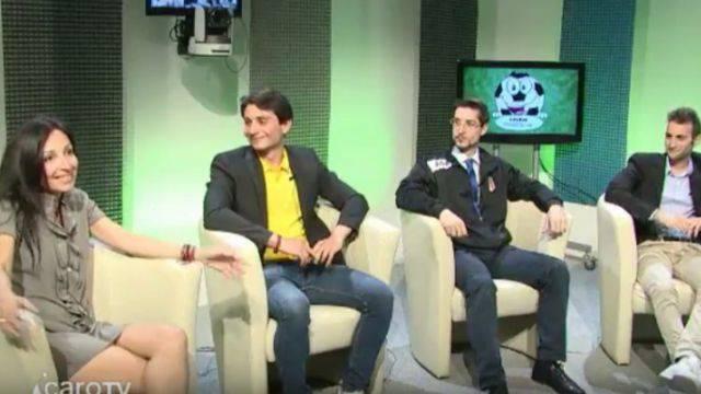 Lo studio di Calcio Junior TV del 30 aprile