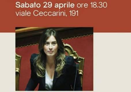 Maria Elena Boschi a Riccione a sostegno di Sabrina Vescovi