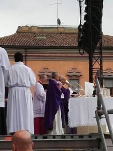 Il Papa durante la celebrazione liturgica