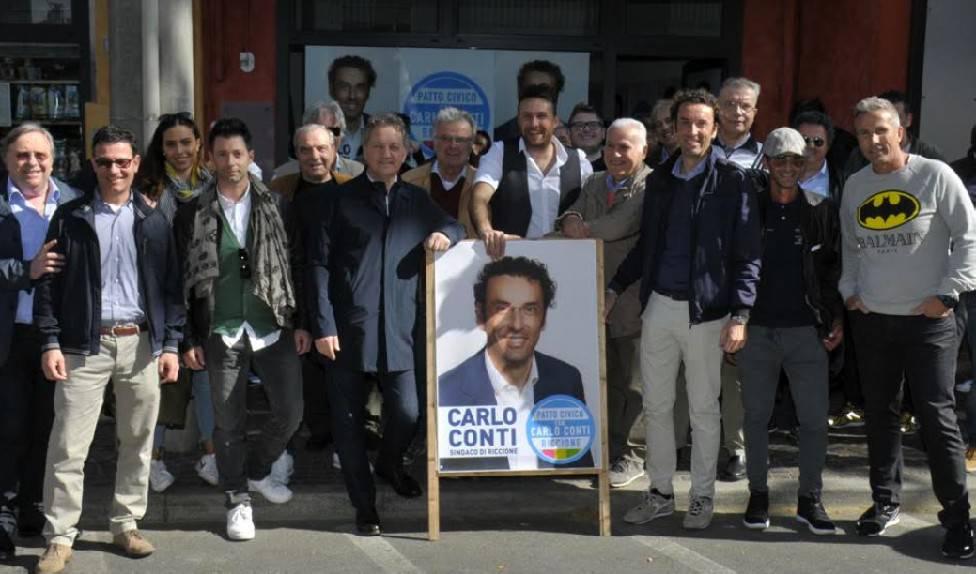 Patto Civico Riccione inaugura sede. Conti: al ballottaggio saremo scelta di futuro
