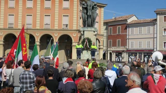 25 aprile a Santarcangelo. L'attualità nel discorso del sindaco