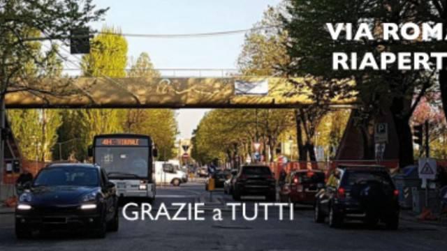 Via Roma riaperta, l'Amministrazione ringrazia