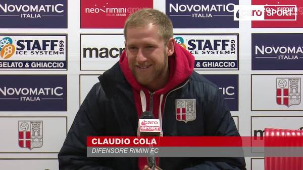 Claudio Cola in sala stampa