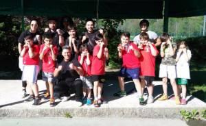 I giovani dell'Accademia Pugilistica Valconca a Porretta Terme