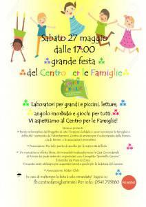 Volantino festa centro per le famiglie