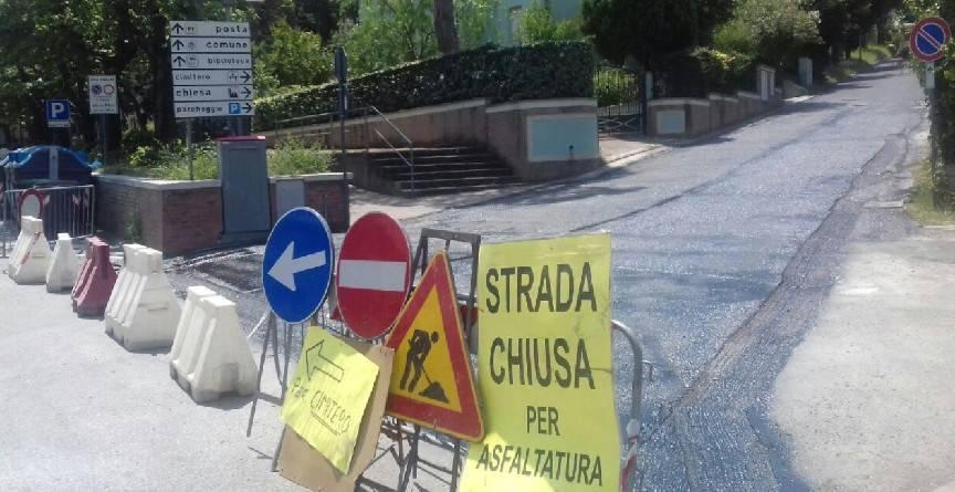 Coriano, proseguono i lavori di asfaltatura