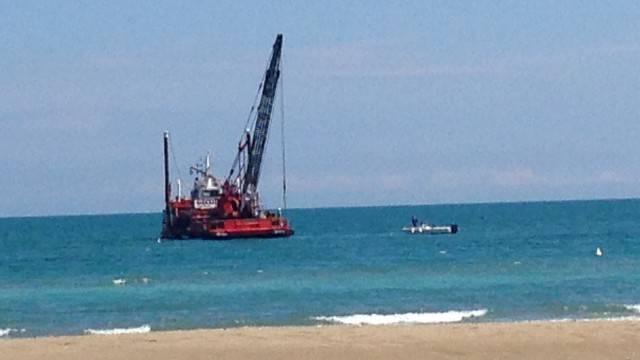 Posate barriere antierosione a Riccione. Tosi: continueremo a difendere litorale