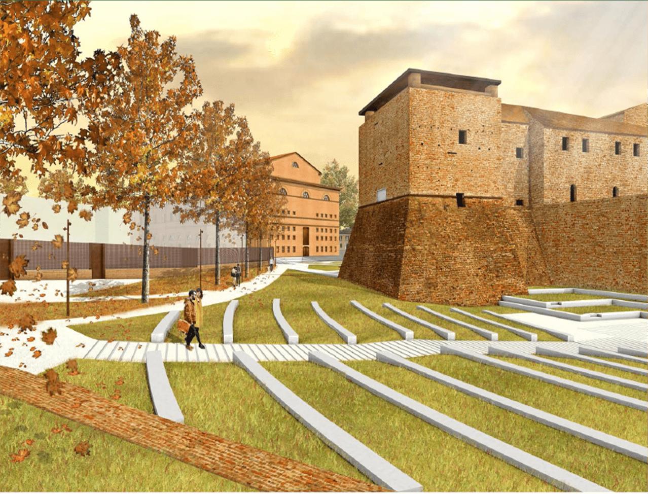 """Piazza Malatesta, approvato il progetto per il """"Giardino del Castello – Arena del Bastione"""""""