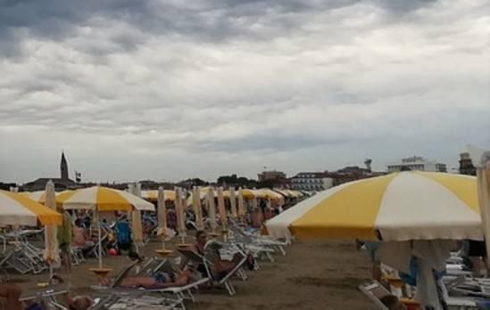 maltempo spiaggia