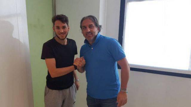 Alessandro D'Addario con il DS del Rimini Piertro Tamai