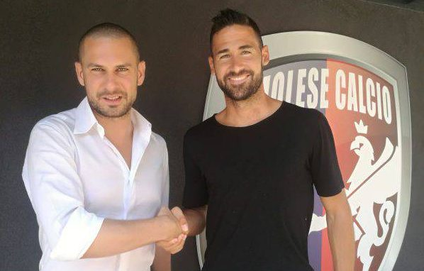 Michele Valentini (dx) con il DS Ghinassi