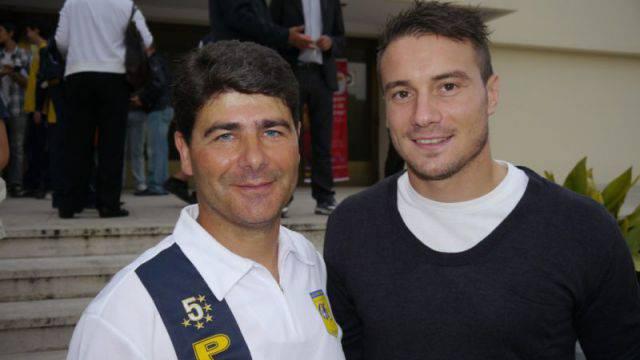 Sergio Franco insieme a Matteo Brighi