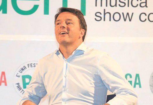 Matteo Renzi al bagno 46per presentare il suo libro