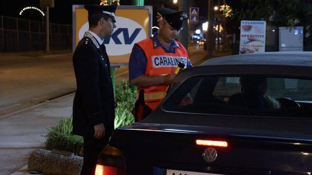 Guida sotto alcol, i controlli dei Carabinieri
