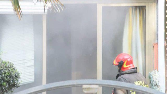 Incendio in appartamento alla Gaiofana