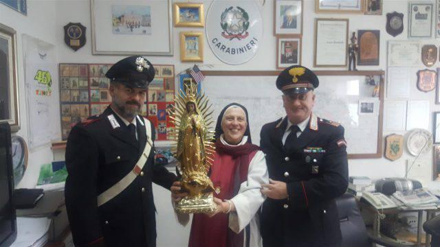 Ritrovata dai Carabinieri la statua della Madonna trafugata