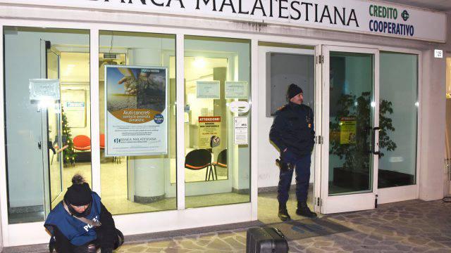 Assalto al bancomat della Banca Malatestiana alle Celle