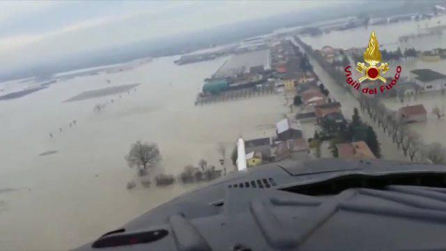 Maltempo al nord: emergenza in Emilia