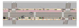 Restyling arredo e realizzazione di pista ciclabile in Viale D'Annunzio