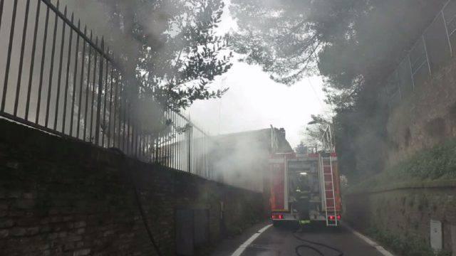 Incendio di capanno di via Leoni a Covignano