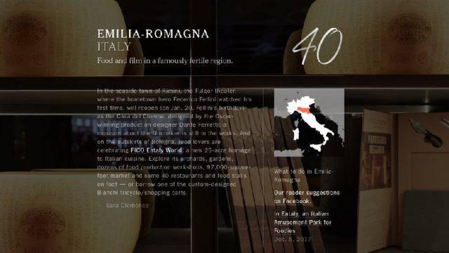 Cucina e Fellini. Per il NY Times food valley e Rimini da visitare