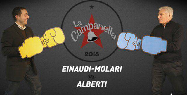 La Campanella. Questa sera di fronte Einaudi-Molari e Alberti