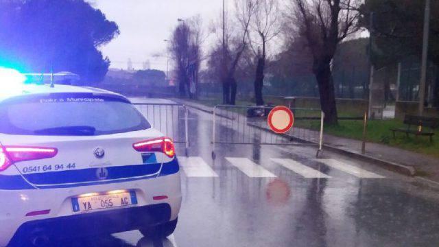Chiuso il sottopasso di via Angeloni a Riccione