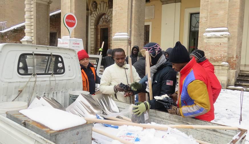 Maltempo. A Rimini danno una mano anche Ci.Vi.Vo e richiedenti asilo